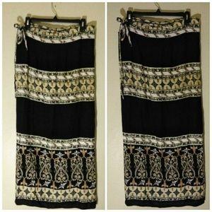 Vintage Thailand Wrap Skirt OSFM
